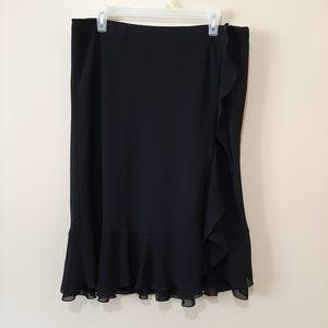 Laura Black Ruffled Skirt